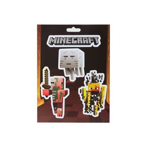 Samolepky Minecraft Mobs Nether Sticker Pack