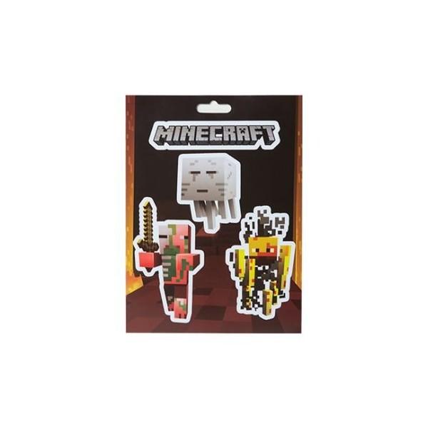Samolepky Minecraft Mobs Nether Sticker Pack