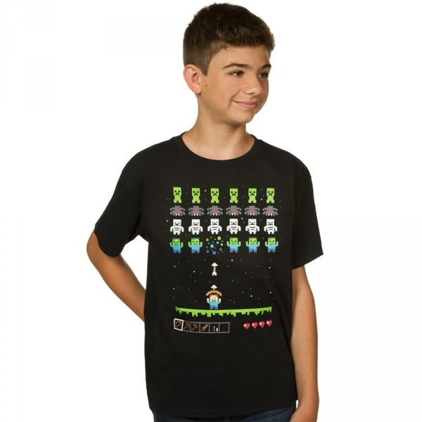 Tričko Minecraft Invaders dětské