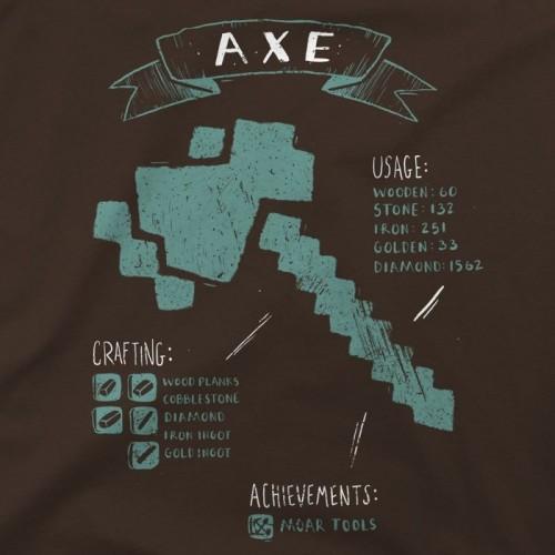 Tričko Minecraft Axe Diagram dětské