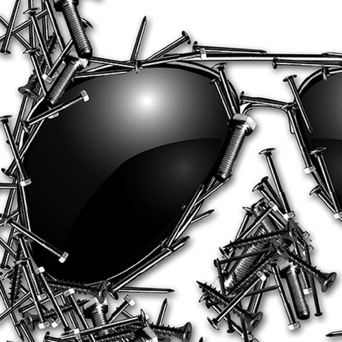 Lebka Brýle Šrouby Hřebíky