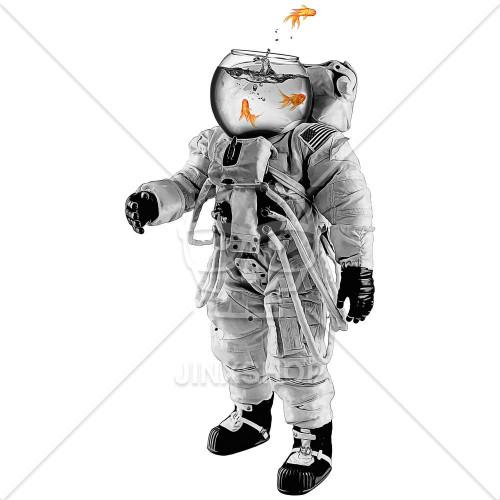 Astronaut Zlatá rybka