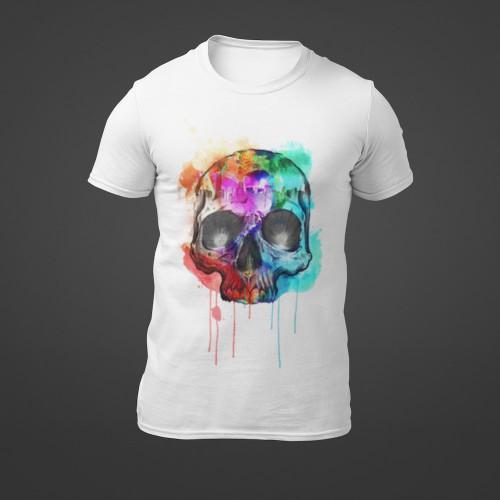 Tričko Stříkaná Lebka