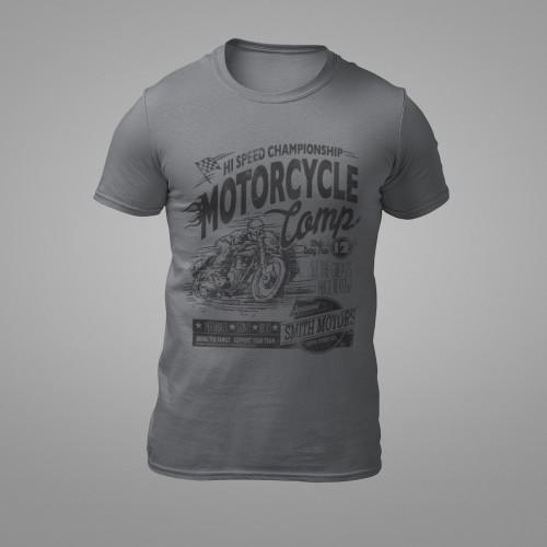Tričko Motocykl soutěžní plakát