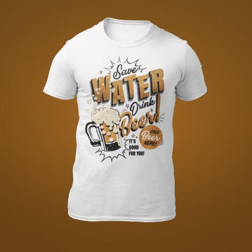 Tričko Šetři vodou, pij pivo