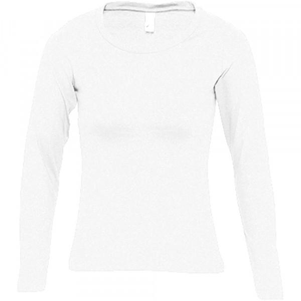 127 TRIČKO DÁMSKÉ LONG CLASSIC, Barva: 00 White, velikost S