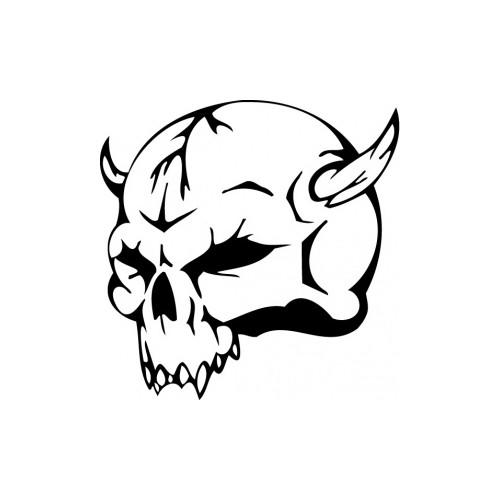 006 Lebka ďábla - reflexní