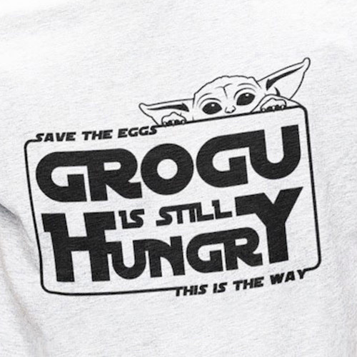 Grogu je hladový.
