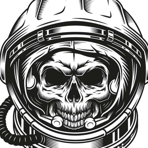 Tričko Skull kosmonaut