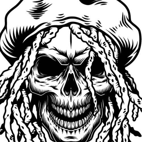 Tričko Skull dredy