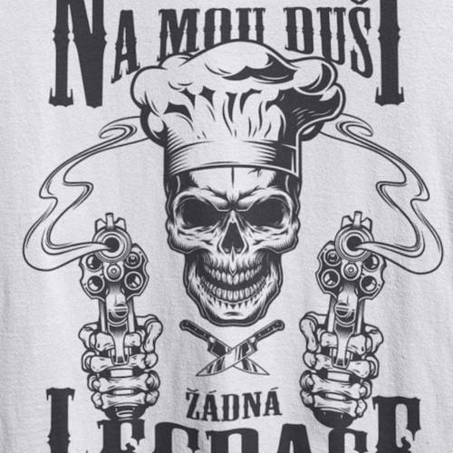 Tričko Skull kuchař - žádná legrace