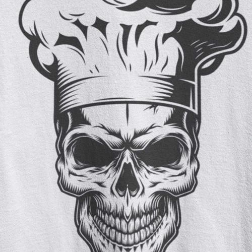 Tričko Skull kuchař