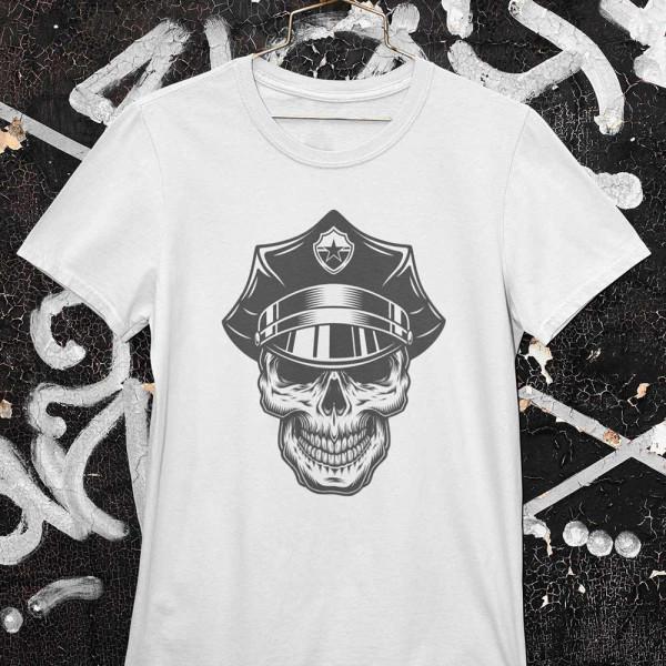 Tričko Skull policajt