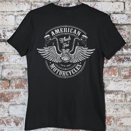 Tričko American Motorcycles - EDITOVATELNÉ
