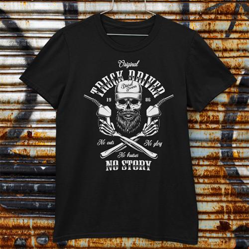 Tričko Truck Driver No Story - EDITOVATELNÉ