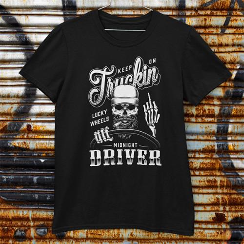 Tričko Truck Driver Midnight - EDITOVATELNÉ
