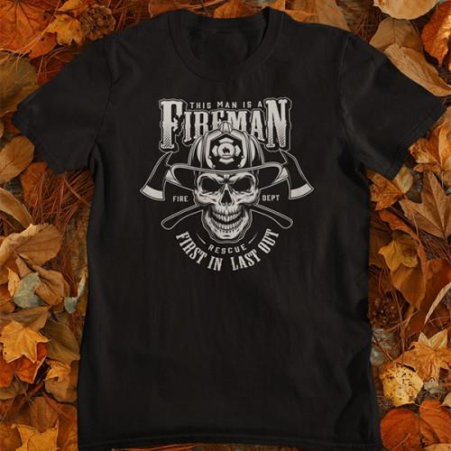 Tričko Fireman Rescue - EDITOVATELNÉ