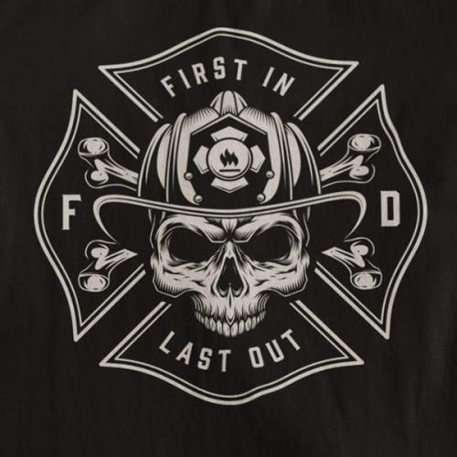 Tričko Fireman First In, Last Out - EDITOVATELNÉ