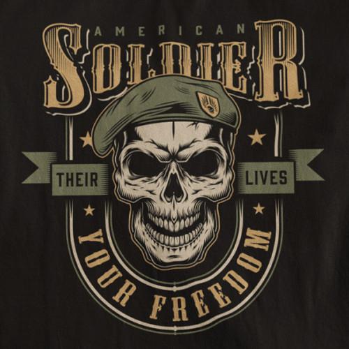 Tričko Soldiers Your Freedom - EDITOVATELNÉ