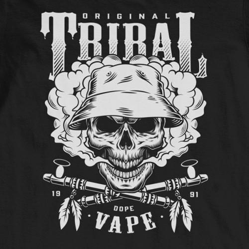 Tričko Vaping Tribal - EDITOVATELNÉ