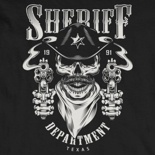 Tričko Sheriffs DEPT Texas - EDITOVATELNÉ