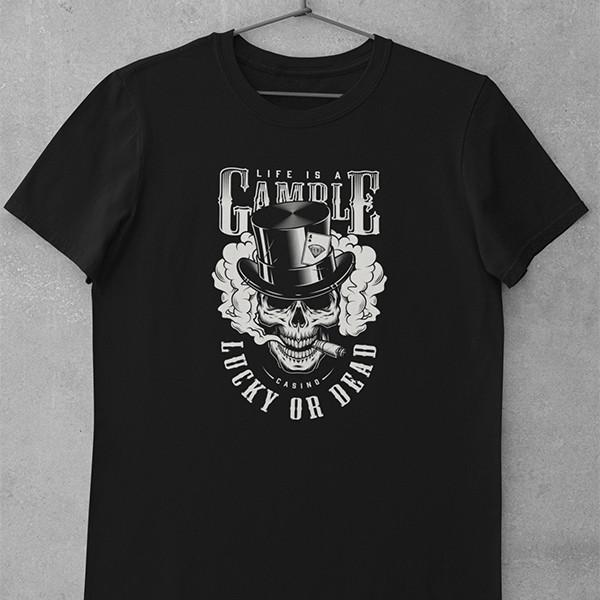 Tričko Casino Gamble - EDITOVATELNÉ