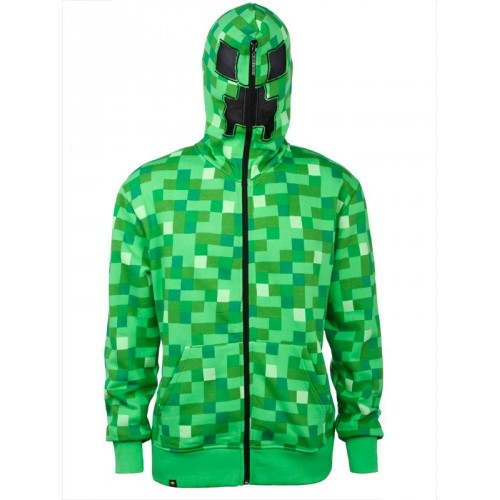 Minecraft Creeper Premium Zip-up Hoodie