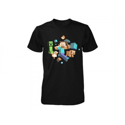 Minecraft Run Away! Youth Tee