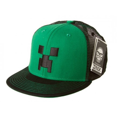 Minecraft Creeper Face Premium Snap Back Hat