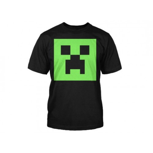 Tričko Minecraft Creeper Glow in the Dark Face dětské