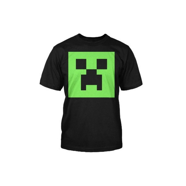 Minecraft Creeper Glow in the Dark Face Youth